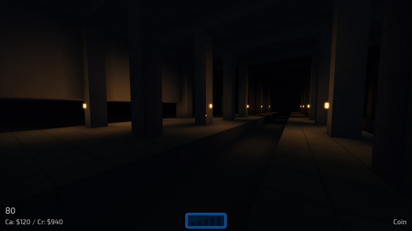 "The only surviving screenshot of Neon Struct's ""sewer level""."